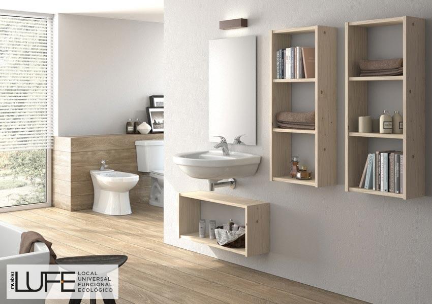 Cocteler a creativa con madera de pino blog muebles lufe for Muebles de madera maciza para bano