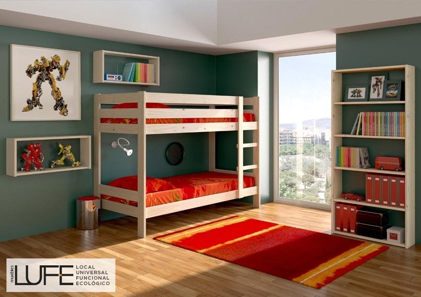 litera madera maciza muebles lufe