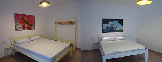 dormitorio con litera en cala josefa lleida