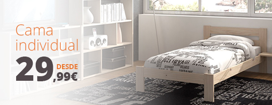 Camas de madera blog muebles lufe for Cama barata