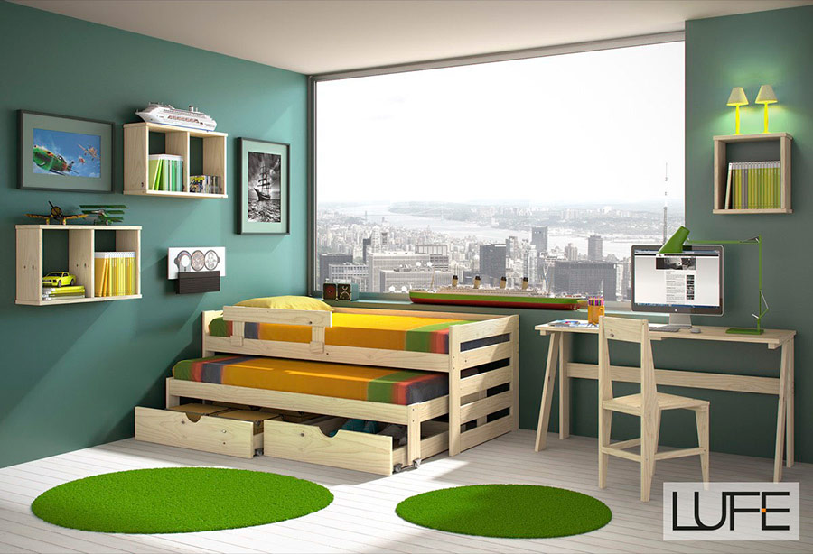 Comprar camas compactas de madera ecológica (Pulida, Barnizada o ...