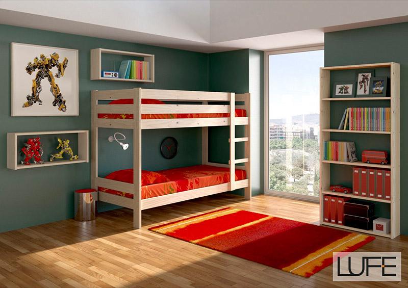Lufe estructura de litera estilo n rdico a tu alcance for Habitacion para adultos completa barata