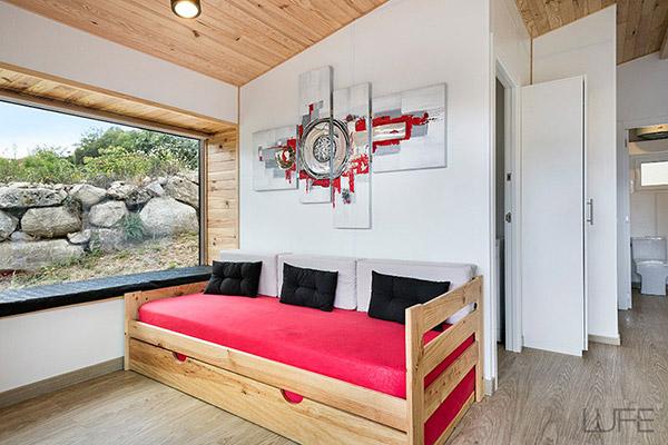 Comprar sofá cama barato de madera ecológica (Pulida, Barnizada o ...
