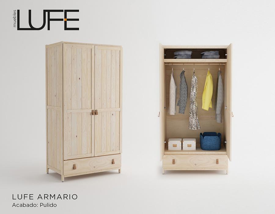 armarios baratos de madera ecol gica pulida