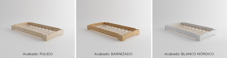 Comprar camas apilables baratas de madera ecológica (Pulida ...