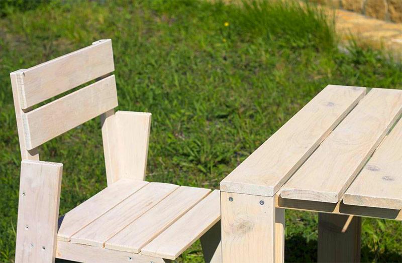 Muebles de madera ecol gica para exteriores resistentes a - Muebles exterior madera ...