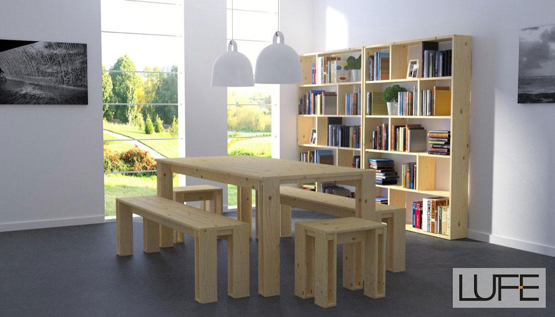 Muebles de madera ecológica para comedores a precios baratos.