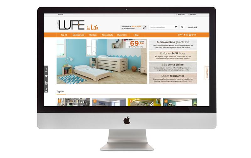 nueva web muebles lufe