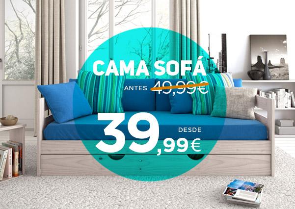 cama sofá de madera 39,99€