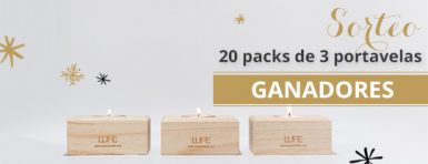 resultado ganadores sorteo 20 packs portavelas madera muebles lufe