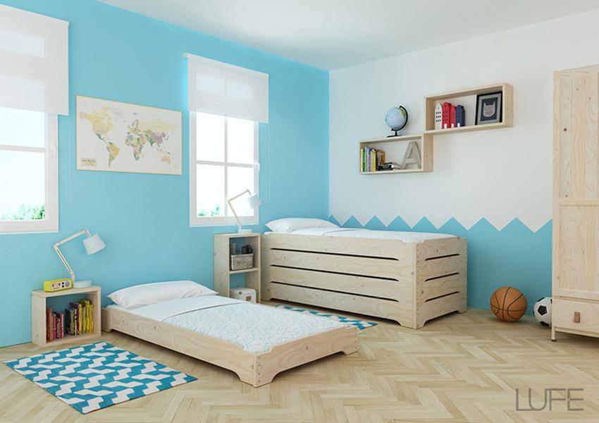 Cama Montessori para niños fabricada con madera ecológica