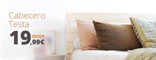 cabecero de madera para camas de madera
