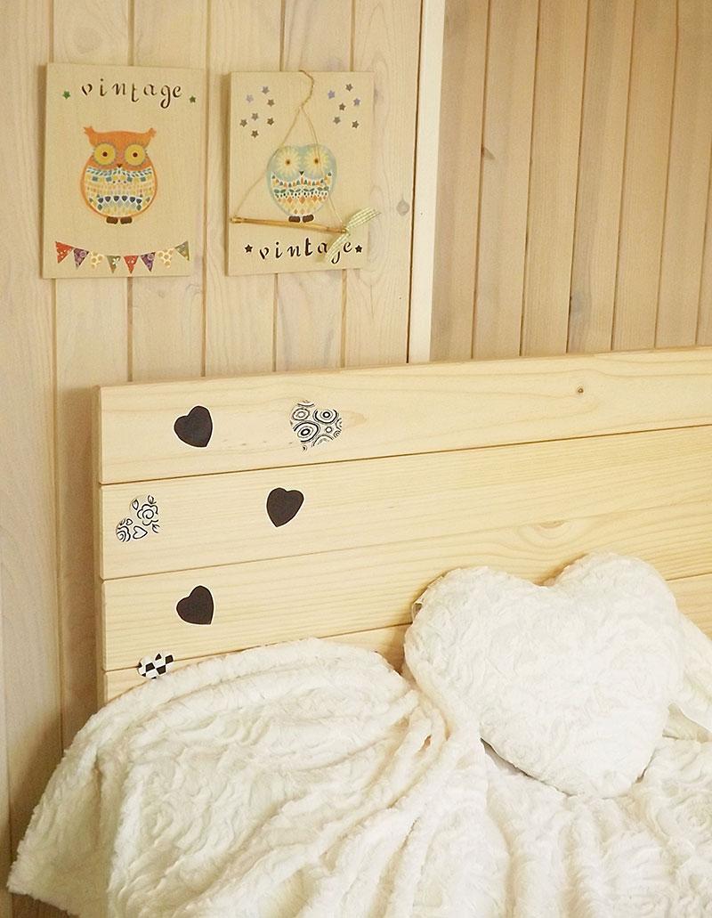 Cabeceros de madera maciza para cama individual, infantil y de ...
