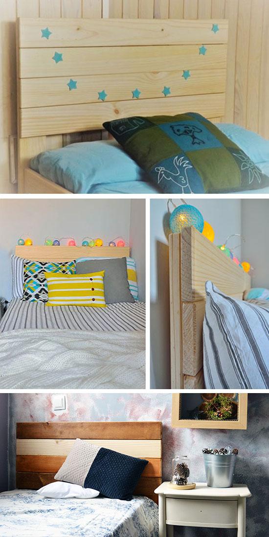 cabecero de madera para camas