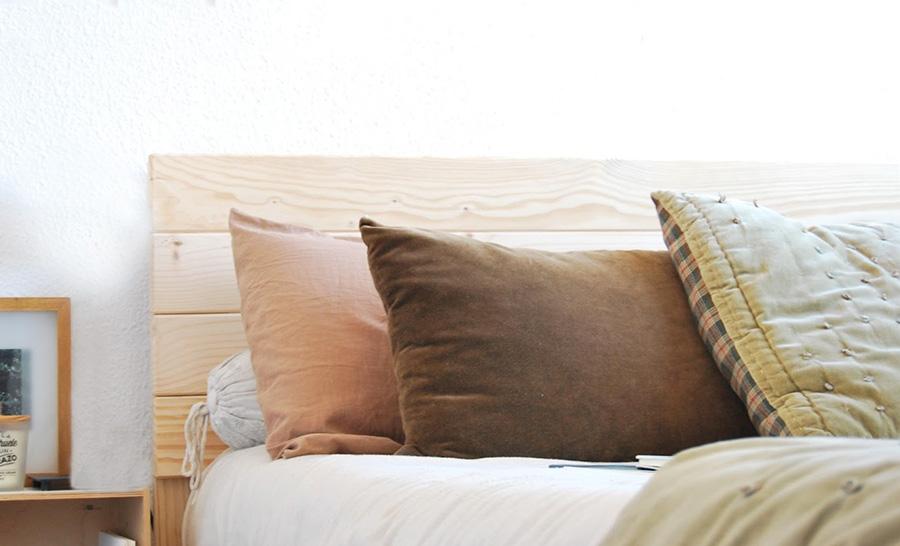 Cabeceros de madera maciza para cama individual infantil - Cojines para cabeceros de cama ...