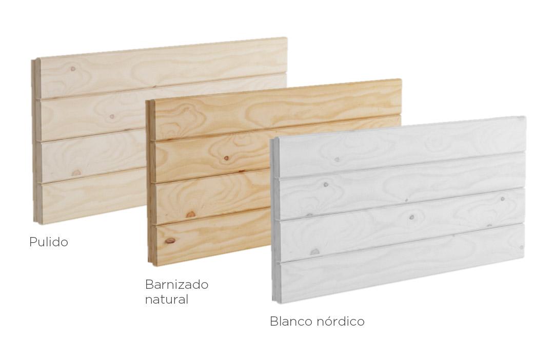 Cabeceros baratos de madera ecol gica para cama individual - Muebles madera natural sin tratar ...