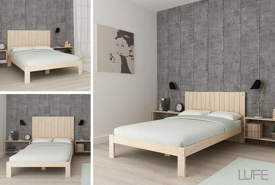 Cabeceros baratos de madera ecológica para cama individual y de ...