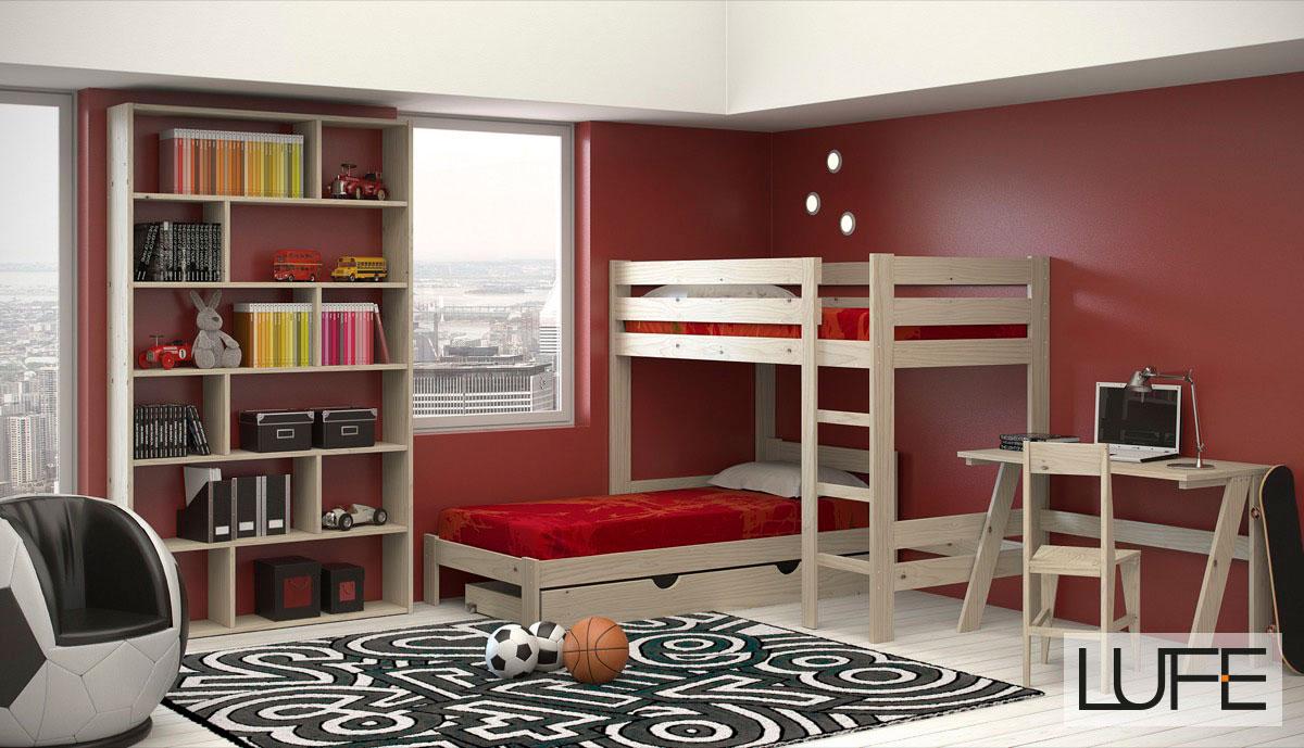 Camas Mezzanine Altas De Madera Ecol Gica Baratas Y Resistentes # Muebles Lufe Instrucciones