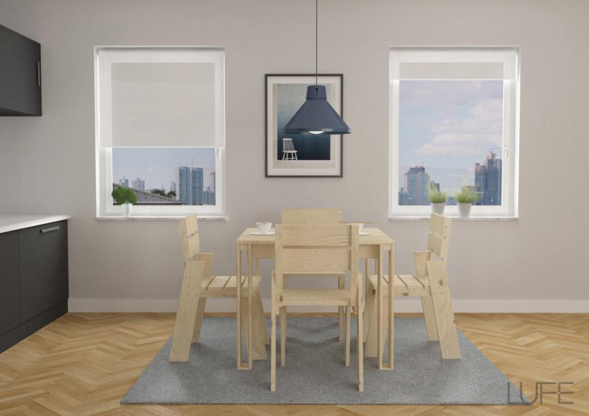 Muebles de sal n baratos de madera ecol gica for Sillas de madera para salon