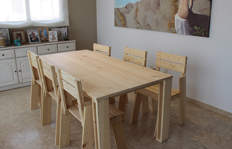 Muebles de sal n baratos de madera ecol gica - Muebles de madera baratos ...