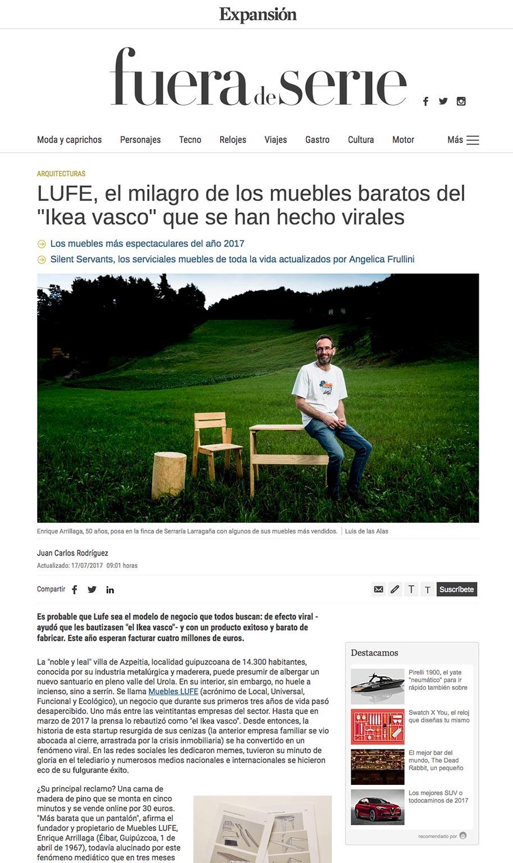 entrevista muebles lufe en periodico expansion