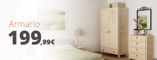 armario de madera maciza barato fabricado por muebles lufe