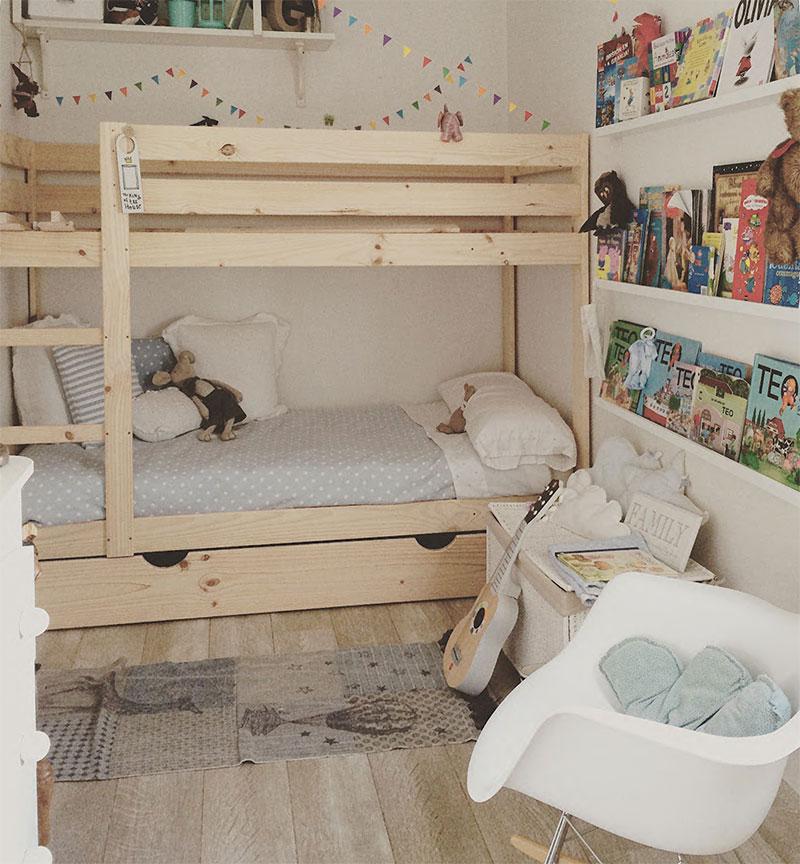 Literas infantiles baratas de madera ecol gica con camas y for Camas para ninos baratas