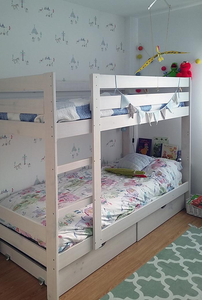 Literas infantiles baratas de madera ecol gica con camas y for Camas infantiles baratas