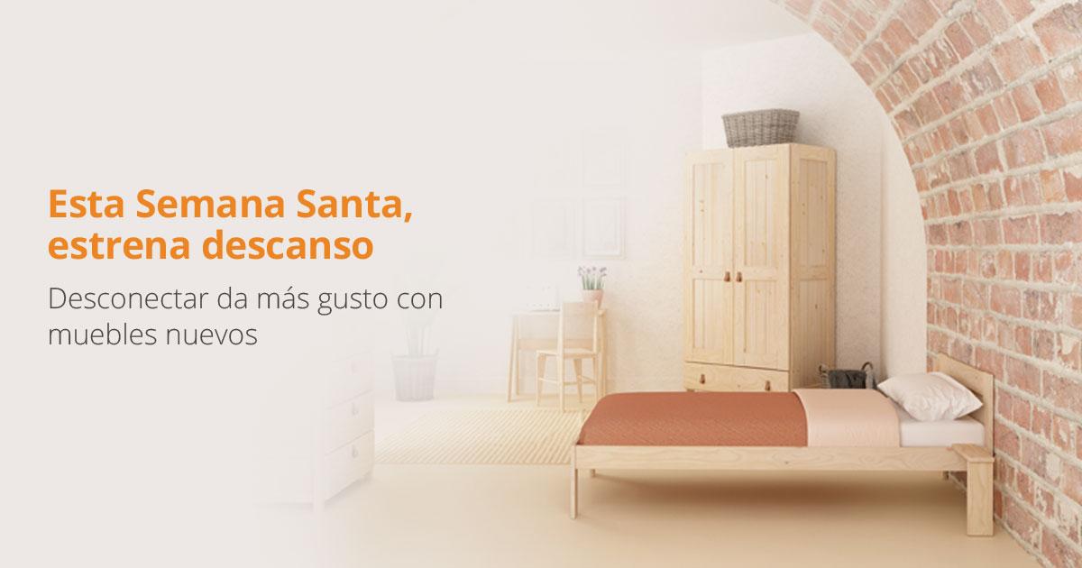 En Semana Santa, desconectar da más gustito si tienes muebles nuevos en tu casa de vacaciones