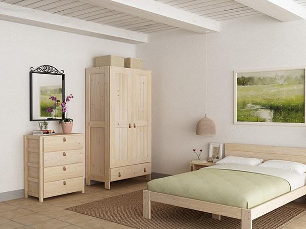 cómoda y armario madera casa vacaciones