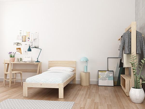 Tronco madera mesita noche | cabecero cama madera