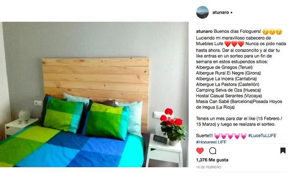 Pantallazo de Instagram de la fotografía ganadora del concurso Luce Tu LUFE con todos los likes visibles