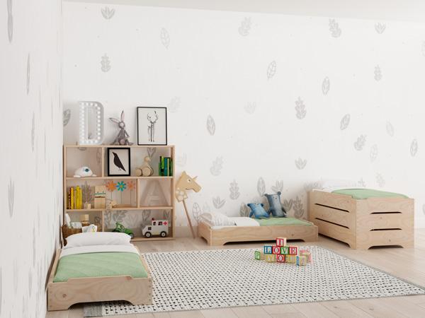 Habitación infantil con camas apilables LUFE