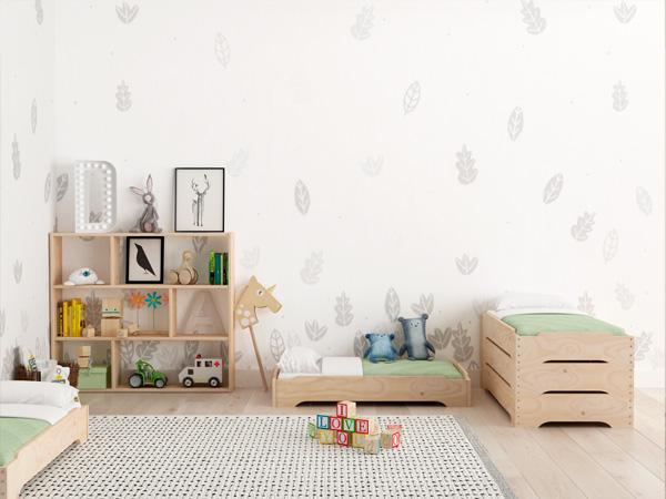 Camas apilables LUFE en habitación infantil