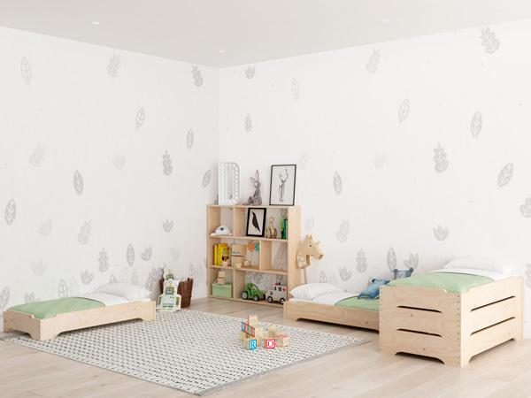 Cama apilable infantil con inspiración Montessori