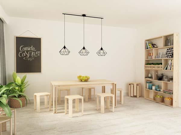 Comedor estilo minimalista nórdico