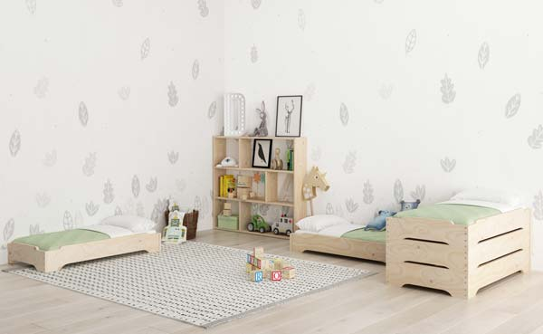 Habitación infantil al estilo nórdico con diseño minimalista