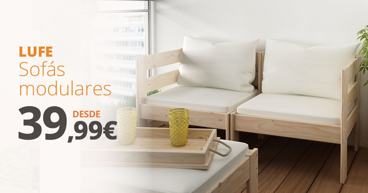 Nuevos sofás modulares LUFE: crea un espacio de relax a medida en tu salón o jardín