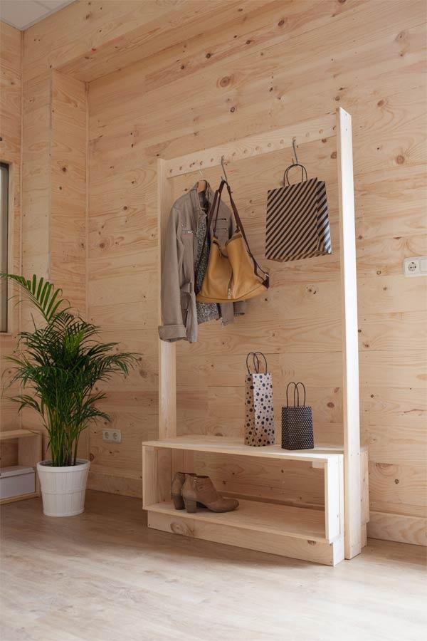 Percheros burro de madera Muebles LUFE