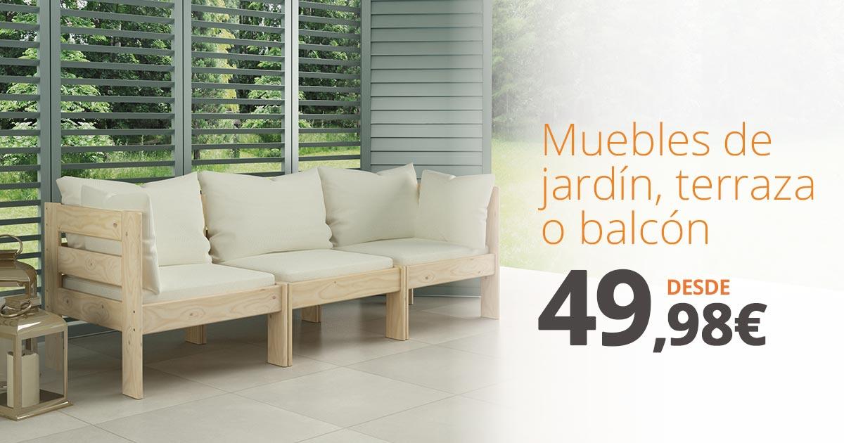 Saca la vida al aire libre con los muebles de jardín de Muebles LUFE