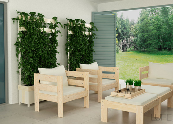 Muebles de jardín baratos estilo ikea
