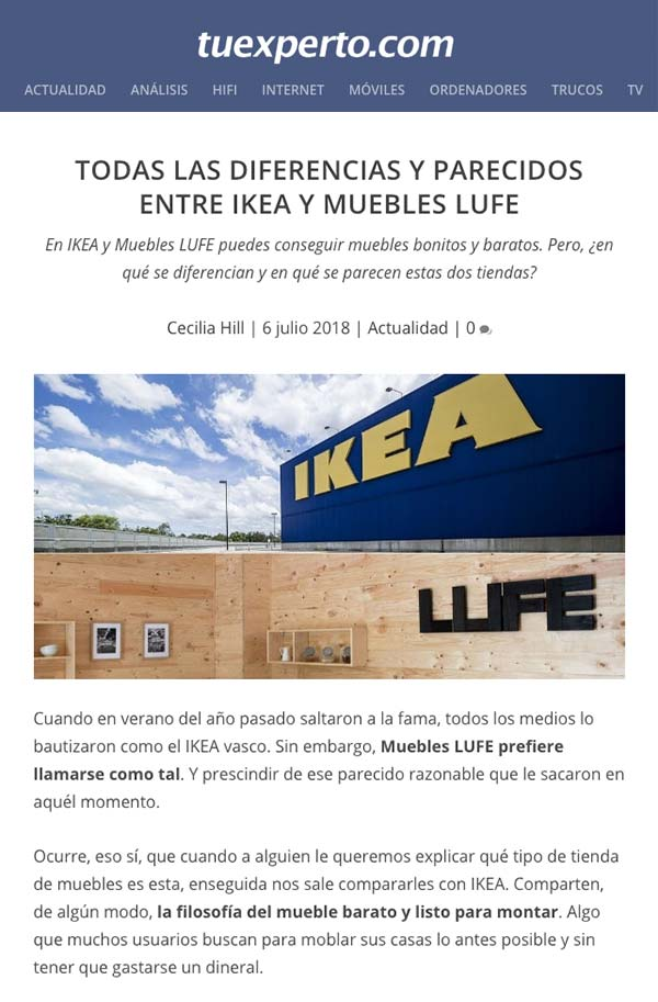 Alternativas a Ikea: Muebles LUFE o