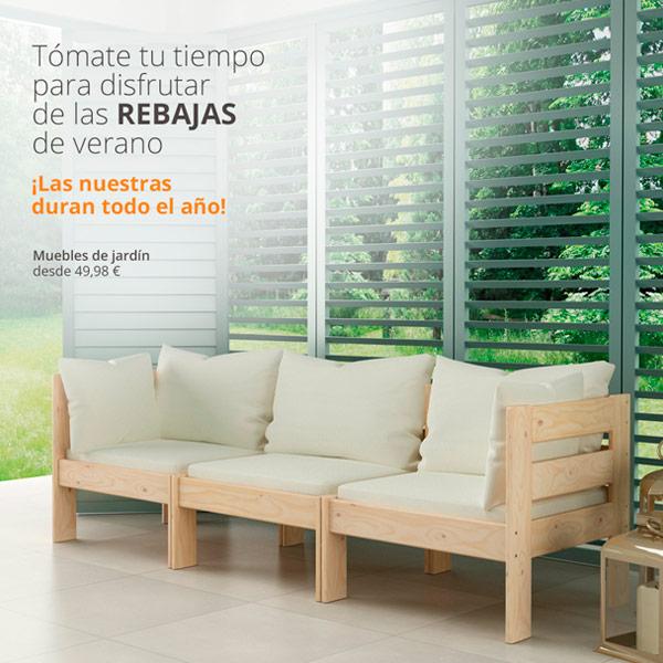 Muebles baratos de exterior y jardín LUFE