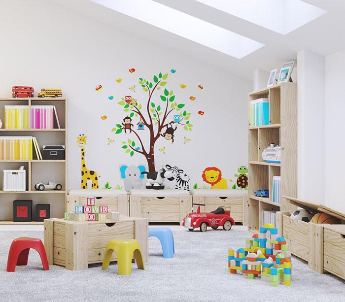 Baúl o Cofre - Arcón barato para cuarto de juegos infantil Montessori