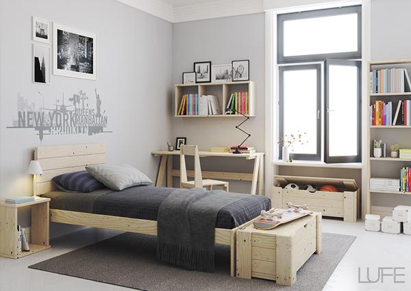Arcón o Cofre de madera como mueble auxiliar para atarte los zapatos
