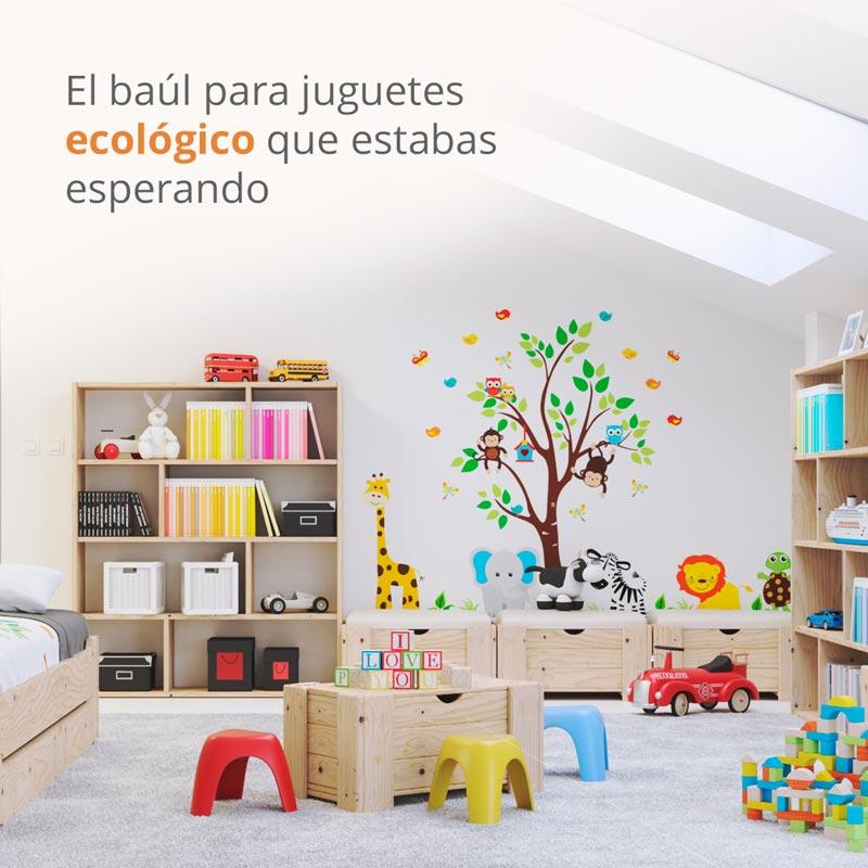 Baúl para guardar juguetes o ropa ideal para dormitorio infantil
