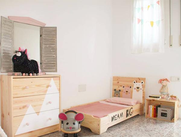 cama apilable infantil basada en la filosofia montessori