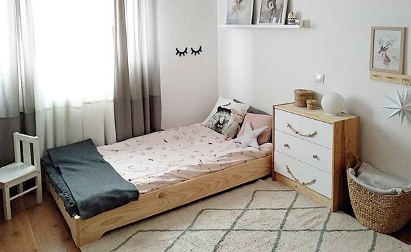 cama montessori barata de madera ecológica