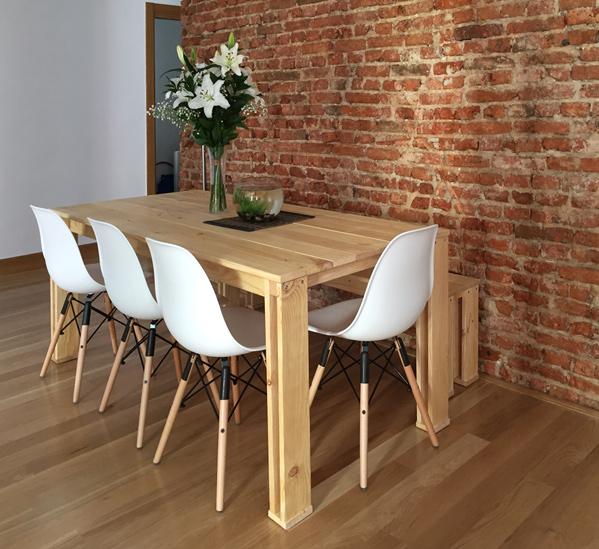 Mesa de madera para salón o comedor barata
