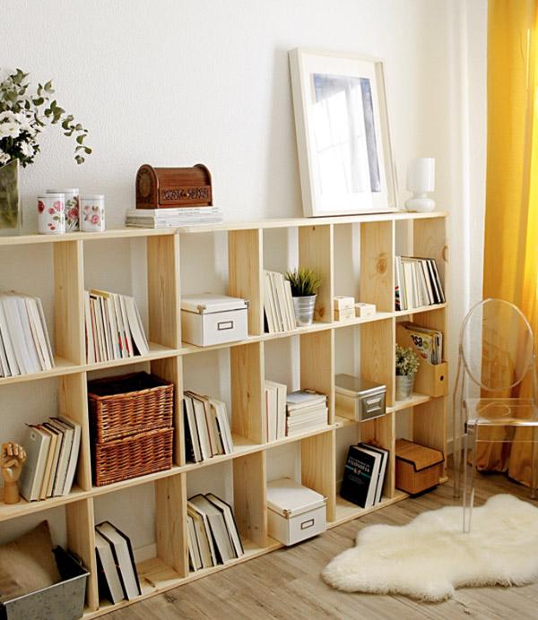 estanterias de madera baratas modulares para libros
